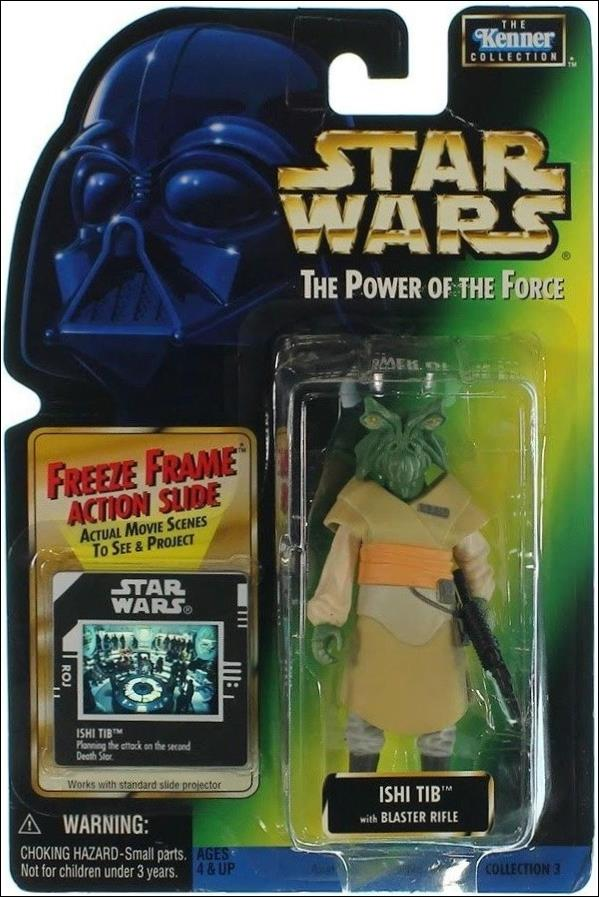 "Star Wars: The Power of the Force 2 3 3/4"" Basic Action Figures Ishi Tib w/ Freeze Frame by Kenner"