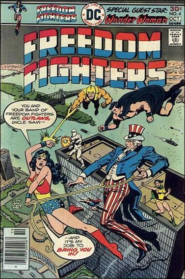 Freedom Fighters (1976) 4-A by DC