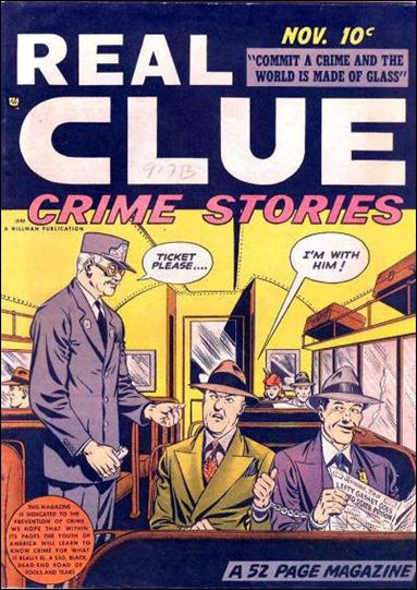 Real Clue Crime Stories (1948) 9-A by Hillman
