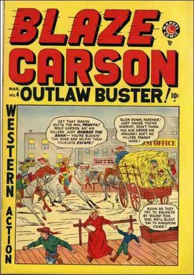 Blaze Carson 4-A by Marvel