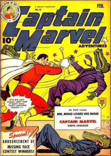 Captain Marvel Adventures 43-A by Fawcett