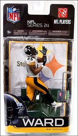 NFL (Series 24) Hines Ward (Steelers) (White Jersey)