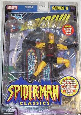2001 Toy BIZ Spiderman Classics Daredevil Yellow Variant Figure Series 2 SEE PIC