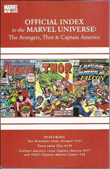 Avengers, Thor & Captain America: Official Index to the Marvel Universe 5-A by Marvel