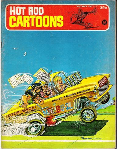hot rod cartoons 19 a nov 1967 comic book by petersen. Black Bedroom Furniture Sets. Home Design Ideas