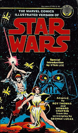Marvel Comics Illustrated Version of Star Wars 1-A by Del Rey