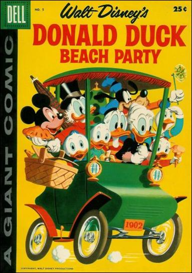 Donald Duck Beach Party 5-A by Dell