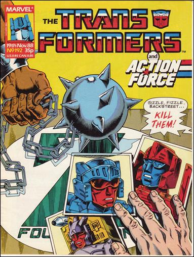 Transformers (UK) 192-A by Marvel UK