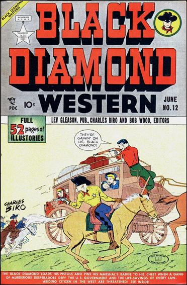 Black Diamond Western 12-A by Lev Gleason Productions