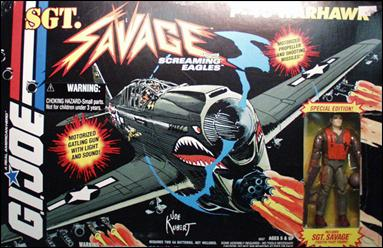 G.I. Joe: Sgt. Savage and the Screaming Eagles (Vehicles) P-40 Warhawk (w/ Fighter Pilot Sgt. Savage)  by Hasbro