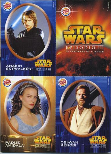 Star Wars Episode Iii Revenge Of The Sith Burger King Stickers Promo Trading Card By Lucasfilm Ltd Title Details