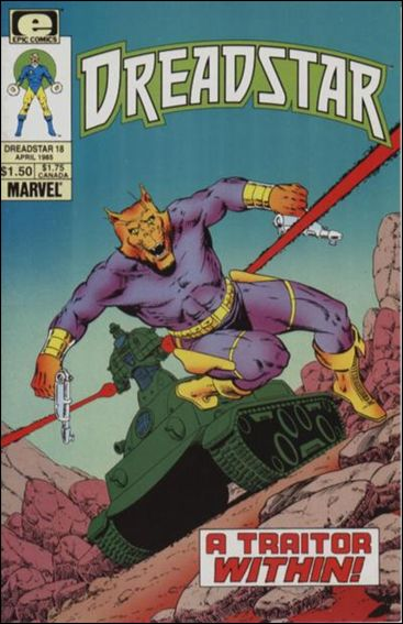 Dreadstar (1982) 18-A by Epic