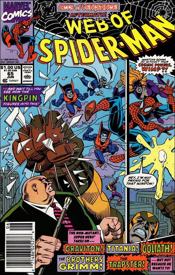 Web of Spider-Man (1985) 65-A by Marvel