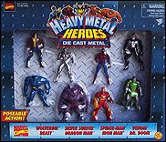 Marvel's Metallic Heroes Box Sets Marvel Comics (Heroes & Villains) 8-Pack by Toy Biz