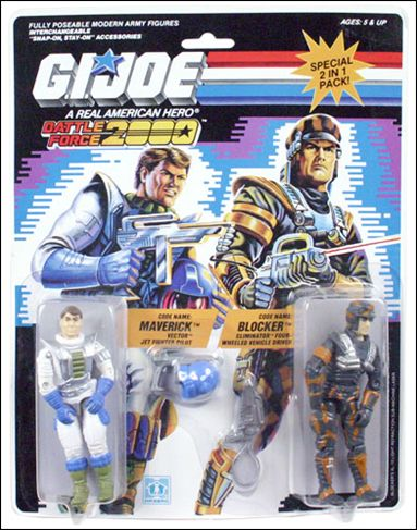 G.I. Joe: A Real American Hero (Battle Force 2000) 2-Packs Maverick and Blocker  by Hasbro