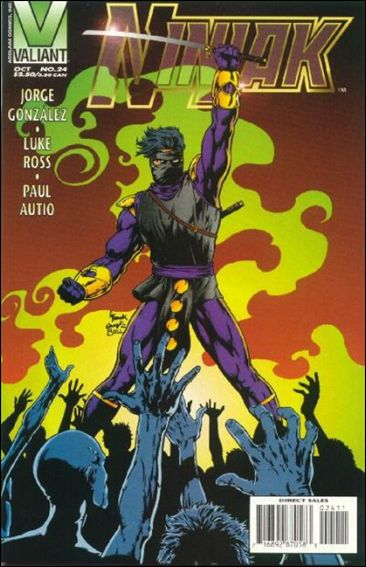 Ninjak (1994) 24-A by Valiant