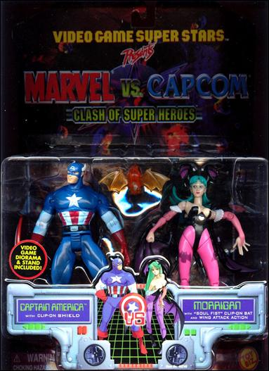 Marvel vs Capcom Captain America vs Morrigan by Toy Biz