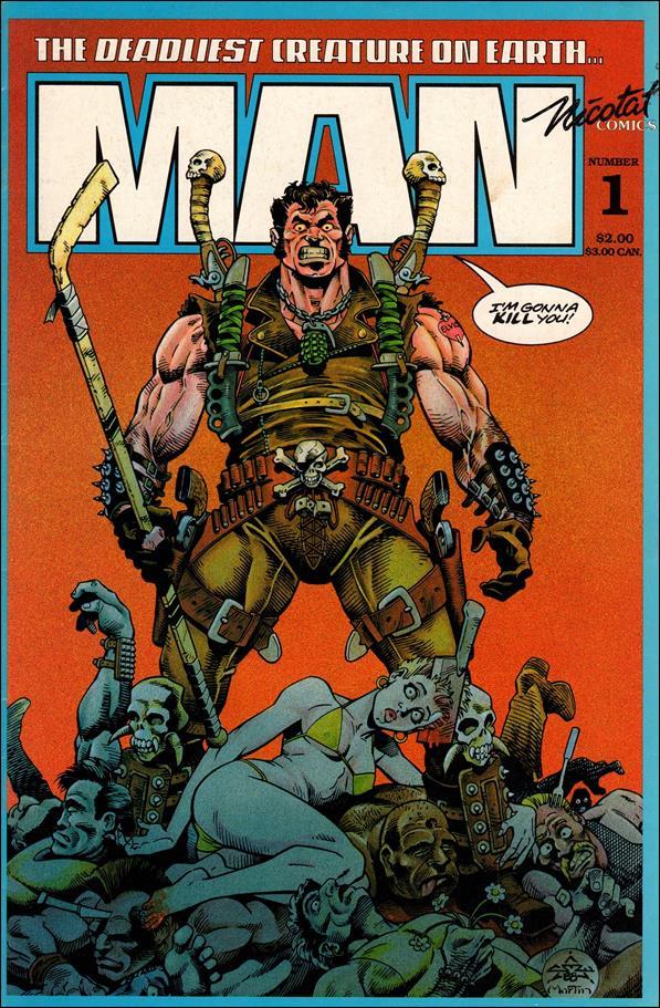 Deadliest Creature on Earth...Man 1-A by Nicotat Comics, Inc.
