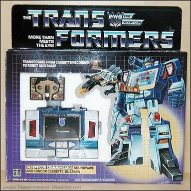 Transformers: More Than Meets the Eye (Generation 1) Soundwave (Decepticon Communicator) w/ Buzzsaw by Hasbro