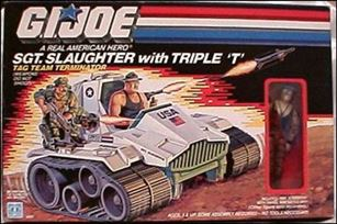 "G.I. Joe: A Real American Hero 3 3/4"" Basic Vehicles and Playsets Sgt. Slaughter with Triple 'T'"