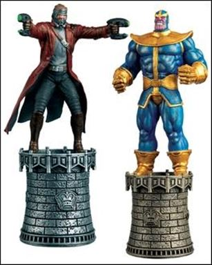Marvel Chess Collection Specials (UK) Star-Lord (White King) and Thanos (Black King)