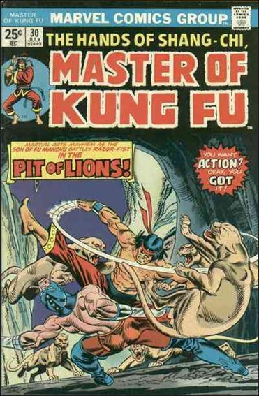 Master of Kung Fu 30-A by Marvel