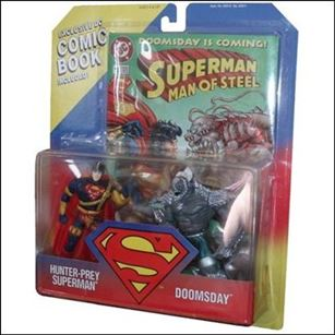 Superman: Man of Steel Action Figure 2-Packs Hunter-Prey Superman vs. Doomsday