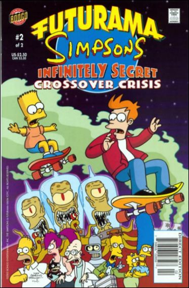 Futurama/Simpsons Infinitely Secret Crossover Crisis 2-A by Bongo