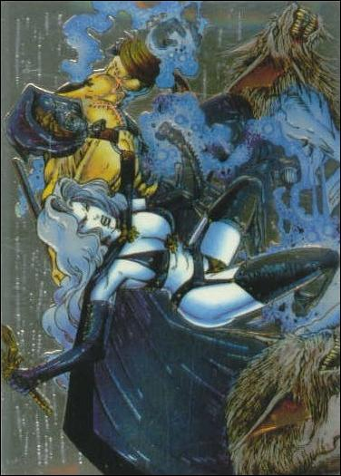 Lady Death All Chromium (Base Set) 22-A by Krome Productions