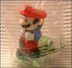 Nintendo Figurines Mario w/turtle (Black Hair) (Sunoco Bag) by Applause