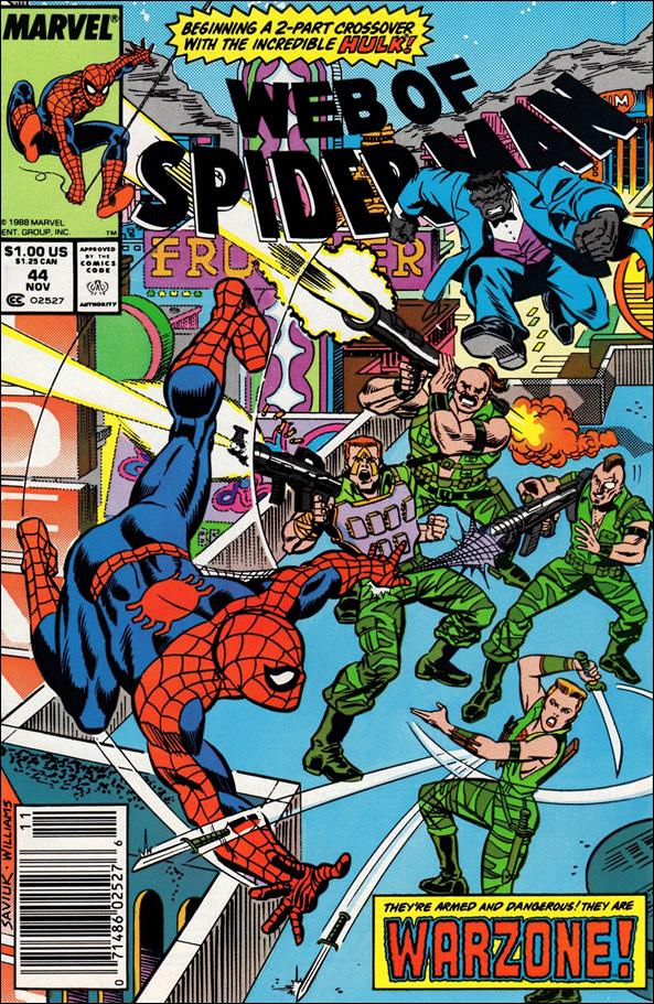 Web of Spider-Man (1985) 44-A by Marvel