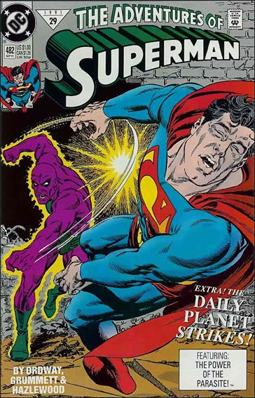 Adventures of Superman (1987) 482-A by DC