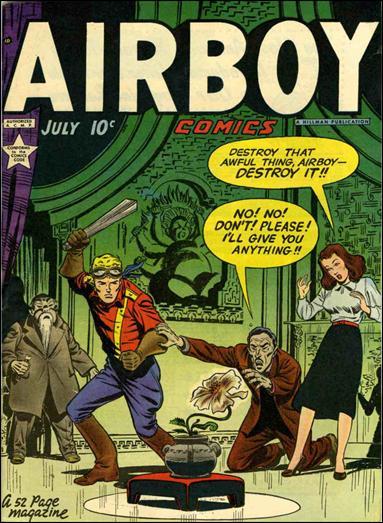 Airboy Comics (1949) 6-A by Hillman