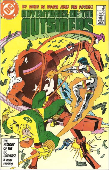 Adventures of the Outsiders 42-A by DC