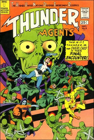T.H.U.N.D.E.R. Agents (1966) 8-A by Tower