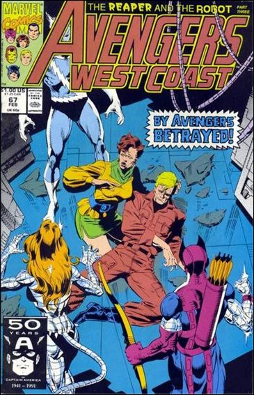 Avengers West Coast 67-A by Marvel