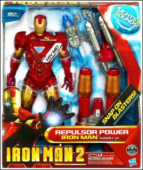"Iron Man 2 (12"" Figures) Repulsor Power Iron Man (Mark VI) by Hasbro"