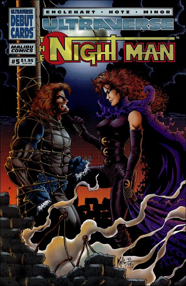 Night Man (1993) 5-A by Malibu