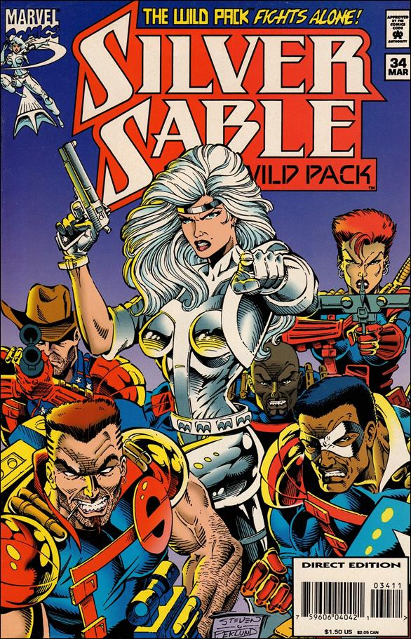 Silver Sable & The Wild Pack 34-A by Marvel