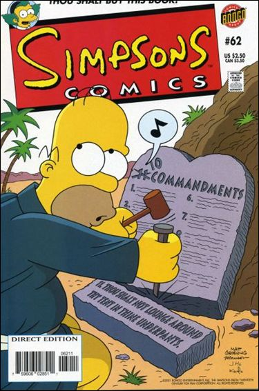 Simpsons Comics 62-A by Bongo