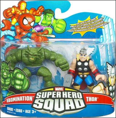 Marvel Super Hero Squad Abomination and Thor by Hasbro