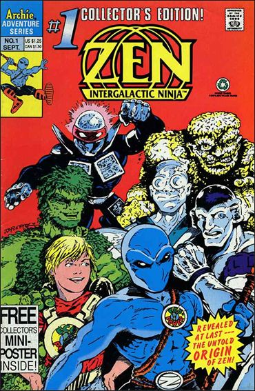 Zen Intergalactic Ninja (1992/09) 1-A by Archie
