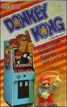 Donkey Kong Collectable Arcade Figures Mario by Coleco