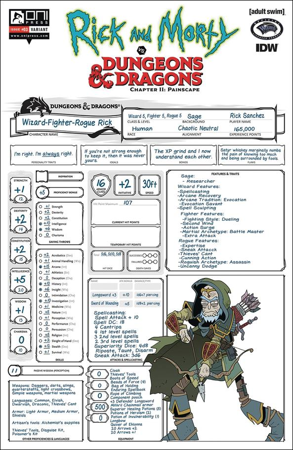 Rick and Morty vs Dungeons & Dragons Chapter II: Painscape 3-C by Oni Press