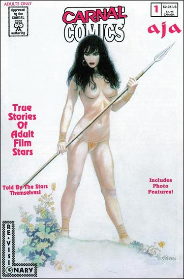 Carnal Comics: True Stories of Adult Film Stars - Aja 1-A by Re-Visionary