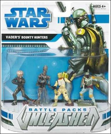 Star Wars: Unleashed Multi-Figure Battle Packs Vader's Bounty Hunters by Hasbro