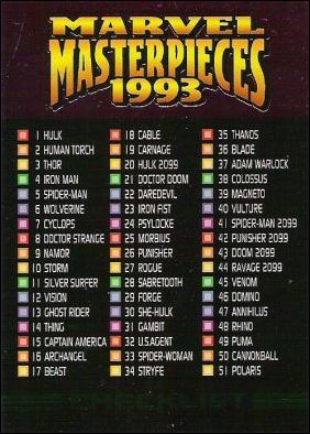 1993 Marvel Masterpieces (Base Set) 90-A by SkyBox