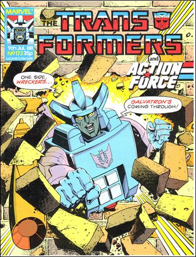 Transformers (UK) 173-A by Marvel UK