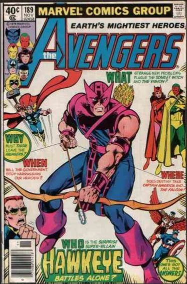 Avengers (1963) 189-A by Marvel