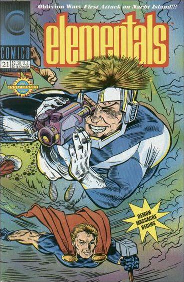 Elementals (1989) 21-A by Comico